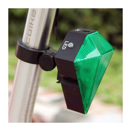 N/A – 3 funktioners baglygte til cyklen (grøn) fra olsens it aps