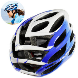 MTB / Greenroad Outdoor Bike Cykel Cycling Helmet + Visor, LW-850 (blå)