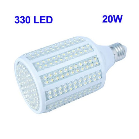 Image of   20W 330 LED majskolbepære, Base Type: E27