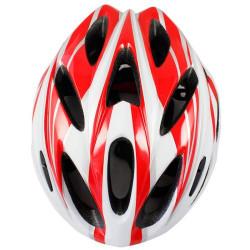 MTB / Greenroad Udendørs Cykel Cykling Hjelm + Visir, LW-821 (rød + hvid)