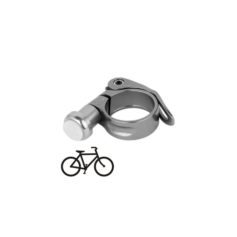 35mm Multi Function Aluminium Cykel Lampe Clip Med 2 Mode Led Lys Gra