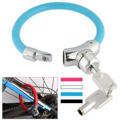 Cykel stålkabel Tyverisikring Ring Lock (tilfældig Farve Delivery)