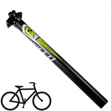 27.2mm sunpeed cykel /  mtb aluminum sædestang (sort + grøn) fra N/A fra olsens it aps