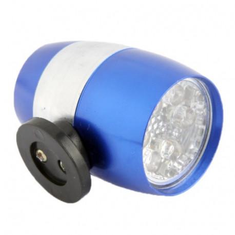 Image of   2 funktioners Mini LED lygte med 6 pærer til cyklen (Blå)