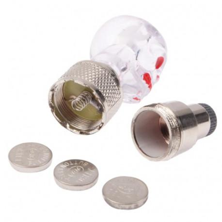 N/A – 2 x dødningehoved formet ventilhætter til cyklen/ motorcyklen / bilen (hvid) på olsens it aps