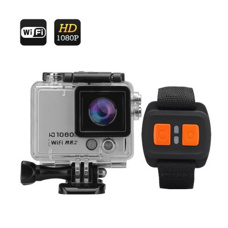 """Image of   1080p 60fps kamera med fjernbetjening """"Flash X"""" - 12MP, WI-FI, 2 tommers skærm, 160 graders linse, IP68"""