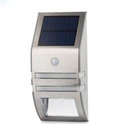 Udendørs soldrevet LED sikkerhedslys med bevægelsesdetektor - 50 lumen, IP44, 5.5V (Sølv)