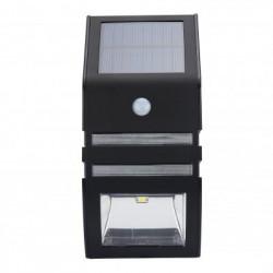 Udendørs soldrevet LED sikkerhedslys med bevægelsesdetektor - 50 lumen, IP44, 5.5V (Sort)