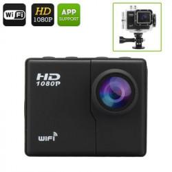 16MP WiFi Kamera - 2560X1080 @ 30fps, 1080p @ 60 FPS, 50 Meter Vandtæthed, 160 graders vidvinkel linse