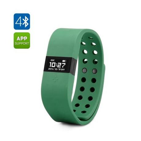 Image of   DIGICare ERI Smart watch - 0,49 tommer OLED Touch Screen, Bluetooth 4.0, Activity Tracker og Sleep Monitor (Militær grøn)