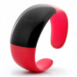 Bluetooth Armbånd med Opkald / Tale funktion - Display af tid, Vibration, Vis nummer (Rød)