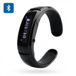 Bluetooth 3.0 Armbånd med Vis nummer, Besvarelse, Musik, SMS Synk., Antitabs funktion, Mik + Højttaler