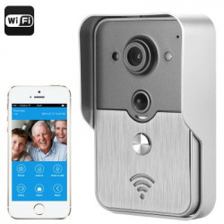 Video Intercom System - 1/4 tommers COMS sensor, iOS + Android support, Night Vision, POE, PIR bevægelsesdetektering