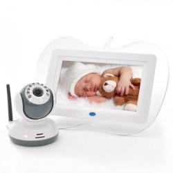 7 tommers 2.4GHz Digital trådløs babyalarm + Kameraetsæt - Night Vision kamera og tovejs samtaleanlæg