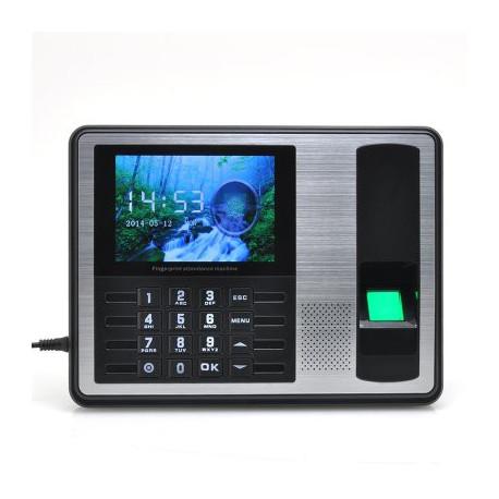 Image of   Fingerprint dørlås - 4 tommers TFT skærm med 1000 fingerprint kapacitet til indcheckning af medarbejdere