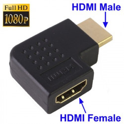 HDMI 19-pin 90-graders vinkel-adapter