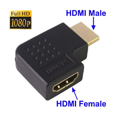 Image of   HDMI 19-pin 90-graders vinkel-adapter
