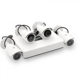 4 Kanalers PoE Mini NVR Overvågnings System - HDMI, 4x 1/4 tommers CMOS-sensor 720p IP-kameraer