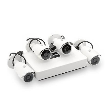 Image of   4 Kanalers PoE Mini NVR Overvågningssystem - HDMI, 4x 1/4 tommers CMOS-sensor 720p IP-kameraer