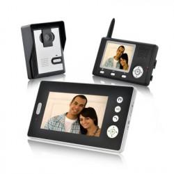 Dobbeltsyn vogter - Trådløs Video dørtelefon med Dual modtagere (CMOS-sensor)