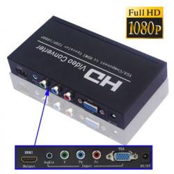 VGA / Komponent til HDMI Omformer