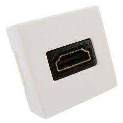 HDMI 19-pin Bøjet Vægplade indbygningsstik