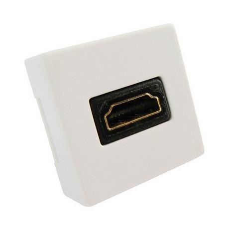 Image of   HDMI 19-pin Bøjet Vægplade indbygningsstik