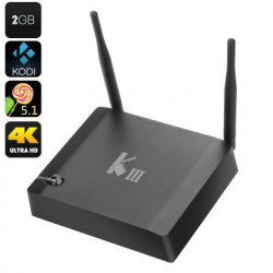 K3 Android TV Box - 4K dekodning, 2K Output, Amlogic S905 Quad Core CPU, HDMI 2.0, Bluetooth 4.0, H.265-kodning