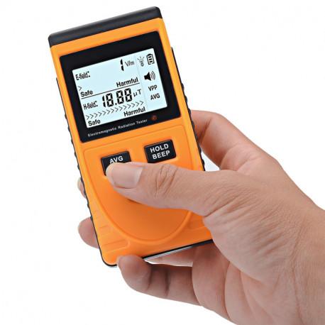 Image of   Elektromagnetisk frekvensstrålingsdetektor - 5Hz til 3500MHzrækkevidde, LCD-skærm