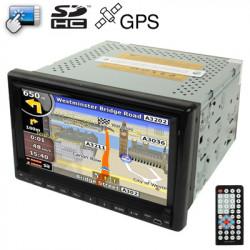 7 TommerGPS Navigation Touch Skræm Bluetooth Bil DVD afspiller