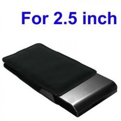"""Læder Taske til 2,5"""" Mobile Hard Drive"""
