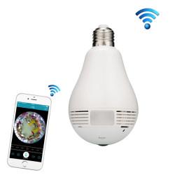 360 graders pære lampe netværk panorama kamera trådløs WiFi Smart Security kamera