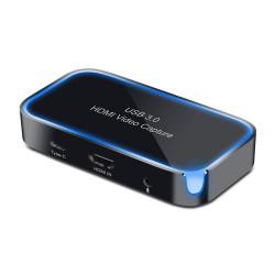 HDMI til USB 3.0 streaming konverter med mikrofon-tilslutning