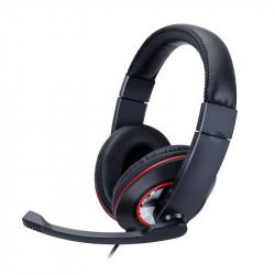 Stereo-headset med adapterkabel