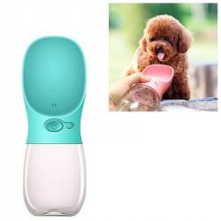 Vandflaske til hund med håndledsbælte - Indhold 550 ml(Blue)