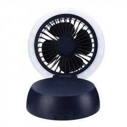 Praktisk genopladelig ventilator med belysning