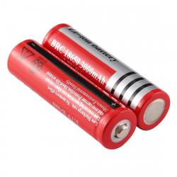 2 styks Litium ion batteri 18650 3000mAh