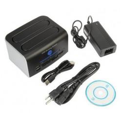 eSata harddisk dock med IDE Sata OTB og cardreader