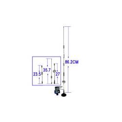 14dBi 3G/GSM/CDMA Netværks antenne (FME Stik)