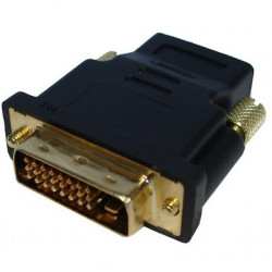 HDMI 19P Female til DVI 24+1P Male, guldbelagt