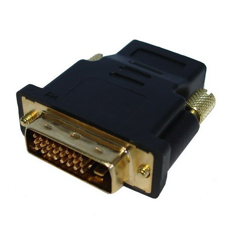 Image of   HDMI 19P Female til DVI 24+1P Male, guldbelagt
