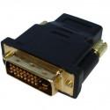 HDMI 19P Female til DVI 24+1P Male, guldbelagt