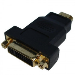 HDMI 19P Male til DVI 24+1P Female, guldbelagt