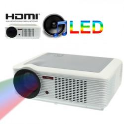 Multimedia LED Projektor with fjernbetjening, Indbygget højttaler, Support HDMI / VGA / YPbPr / S-Video indgang