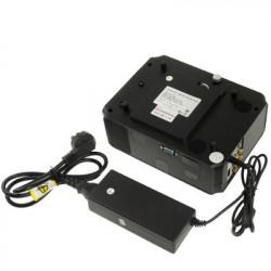 Personlig Micro LED Projektor with fjernbetjening, Indbygget højttaler, Support HDMI / VGA / S-video indgang (Sort)