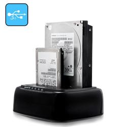 USB 3.0 Dual HDD/SSD Docking station + HDD kopiering UDEN computer (restparti)