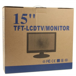 15 tommer 04:03 LCD-skærm, Grænseflade: D-SUB, Max Opløsning: 1024 x 768