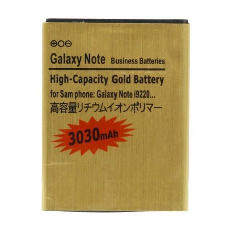 Image of   3030mAh High Capacity Guld Batteri til Samsung Galaxy Note / i9220 / N7000