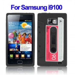 Tape Style Silicon Case for Samsung Galaxy S II / i9100 (Sort)