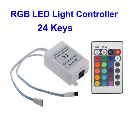 Image of   RGB strømfordeler til LED-lys m. 24 taster